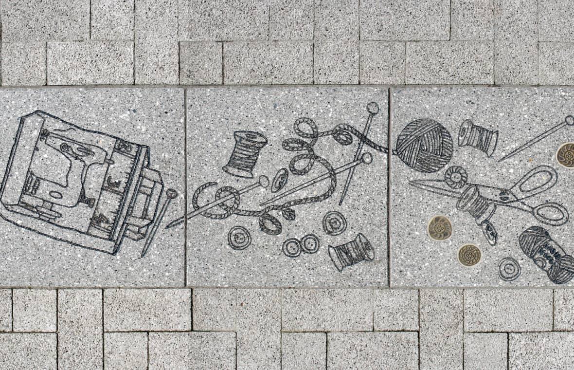 Holton Rd paving artwork