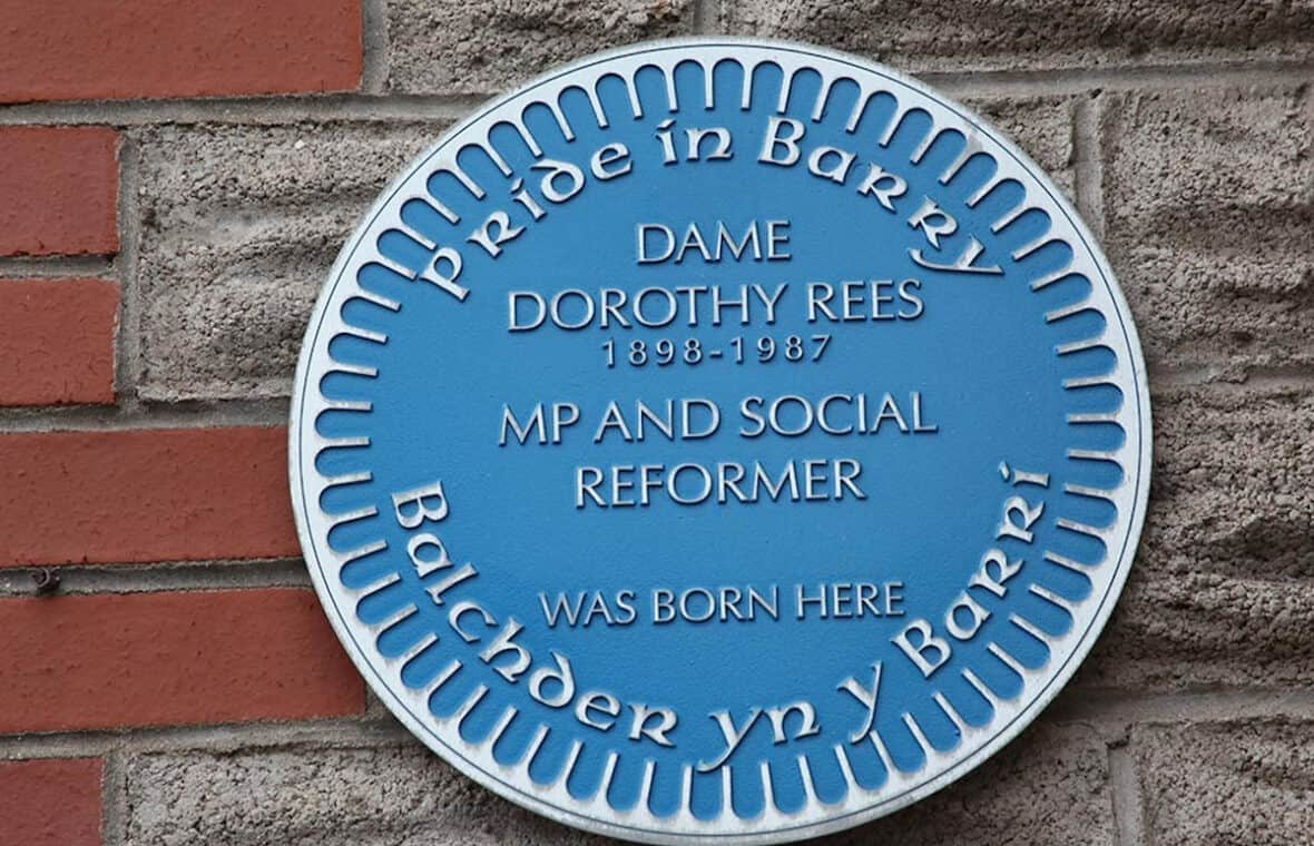 Dame Dorothy Rees blue plaque - Great Barrian